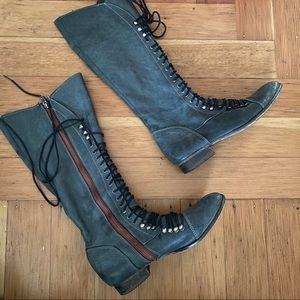 Steve Madden Knee High Lace Up Boots sz37 VGUC